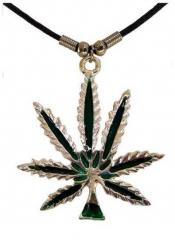 Halskette Hanfblatt