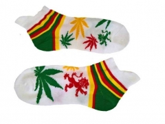 Sneakersocks - Weiß Cannabis
