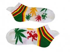 Sneaker Socken - Weiß Cannabis