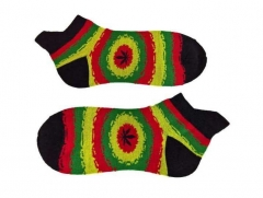 Sneakersocks - Schwarz Cannabis