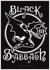 Posterfahne Black Sabbath 45th Anniversary Logo