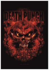 Posterfahne 5 Finger Death Punch Hell to Pay