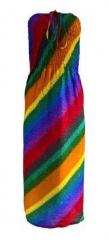 Boho Regenbogen Bandeau Kleid