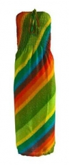 Boho Bandeau Kleid Mehrfarbig