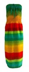 Boho Bandeau Kleid Regenbogen