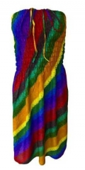 Boho Strandkleid Regenbogen