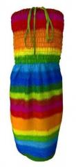 Boho Strandkleid Mehrfarbig