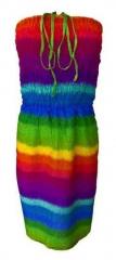 Mehrfarbiges Sommerkleid Boho