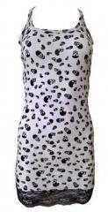 Kleid Rockabella Totenköpfe Weiß