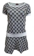 Rock Kleid Schachmuster Weiß
