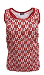 Girlie Top Skulls Red