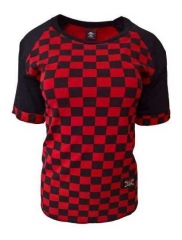 Shirt Rockabella Chess Pattern Red