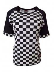 Shirt Rockabella Schachmuster Weiß