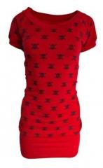 Kleid Rockabella Totenköpfe Rot