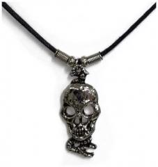 Halskette Totenkopf Schlange