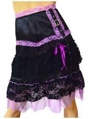 Steampunk Stufenrock Rosa