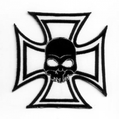 Embroidered Patch Iron Cross (Skull)