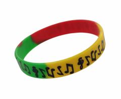 Silikon Armband Musik Symbole Mehrfarbig