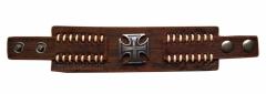 Armband Eiserns Kreuz Braun