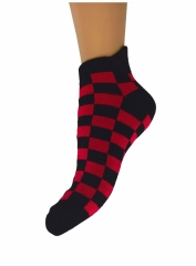 Sneakersocks Chess Pattern Red