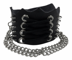 Wristband with Chains & Laces