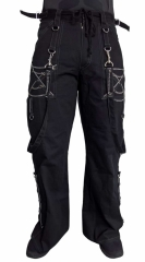 Punkrave pants with chains & d-rings