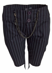 Damen Hose Kurz mit Streifen