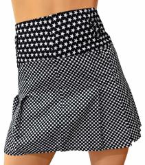 Black & white mini skirt stars