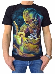 T-Shirt Schwarzer Totenkopf
