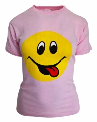 Smiley Shirt in Rosa