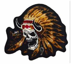 Aufnäher Indianer Totenkopf