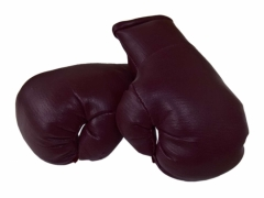 Burgundy Mini Boxing Gloves