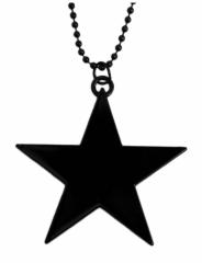 Halskette Schwarzer Stern