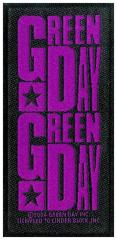 Aufnäher Green Day Purple Logo Patch