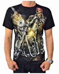 T-Shirt Skull Biker