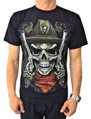 T-Shirt Skull Gunslinger