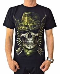 Biker T-Shirt Totenkopf Soldat (Glow in the Dark)