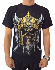 Rocker T-Shirt Totenkopf Wikinger (Glow in the Dark)