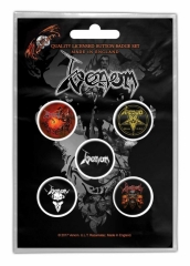 Button Pack - Venom Black Metal