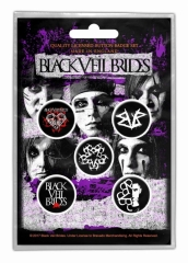 Button Pack - Black Veil Brides Pentagram