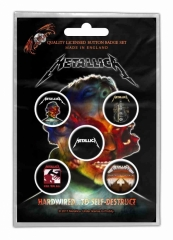 Button Pack - Metallica Hardwired To Self Destruct