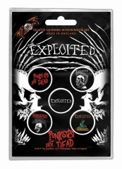 Button Pack - The Exploited Punks Not Dead