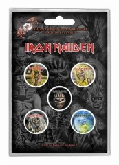 Button Pack - Iron Maiden The Faces Of Eddie