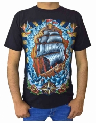 T-Shirt Piraten Schiff (Glow in the Dark)