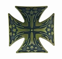Gürtelschnalle Eisernes Kreuz mit Sternen
