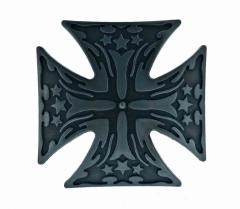 Silberne Gürtelschnalle Eisernes Kreuz mit Sternen