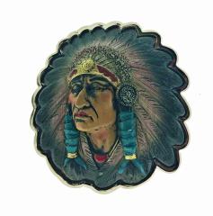Gürtelschnalle Häuptling Indianer