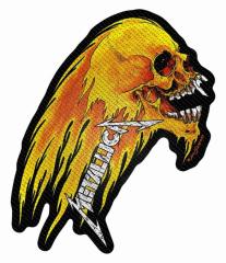 Aufnäher Metallica Flaming Skull Cut Out