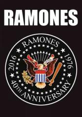 Posterfahne Ramones 40th Anniversary