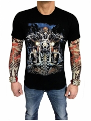 T-Shirt Totenkopf Biker (Glow in the Dark)